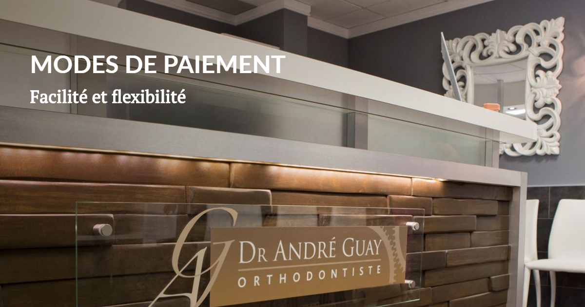modes de paiement orthodontie gatineau dr guay. Black Bedroom Furniture Sets. Home Design Ideas